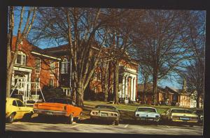 Anderson, South Carolina/SC Postcard, Anderson College, Dodge Charger/Mustang