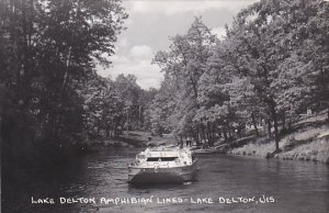 Lake Delton Amphibian Lines Lake Delton Wisconsin Real Photo