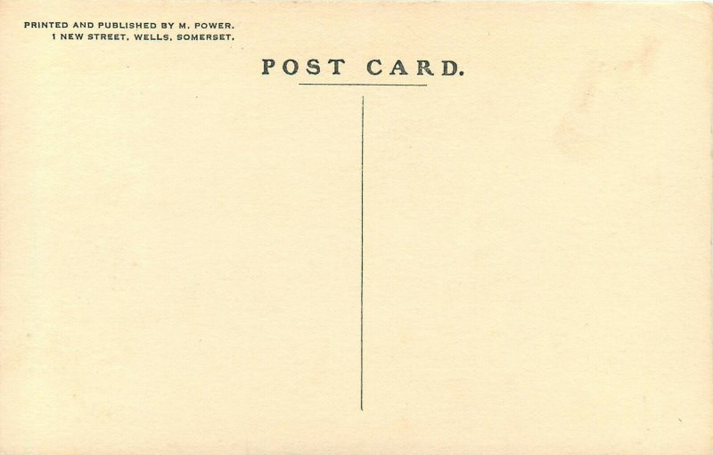 silhouette Style Art Postcard Glastonbury The Tribunal Somerset, England MP