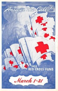 Red Cross Post Card Answer The Call American National Red Cross 1953 Red Cros...