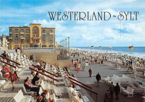 Nordseeheilbad Westerland Insel Sylt Kurpromenade Strand