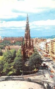 Scotland, UK Old Vintage Antique Post Card Scott Monument, Princes Street Edi...
