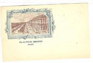 Vue de l'Hotel Brighton , Paris , France , 1890s