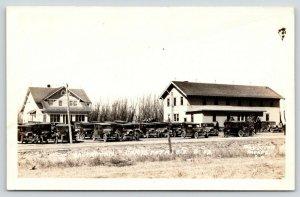 Canistota SD~Dr Ortman Clinic & House~Full Vintage Car Parking Lot~1930s RPPC