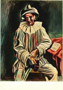 Vintage Postcard Pablo Picasso Pierrot Museum of Modern Art Sam Lewisohn Bequest