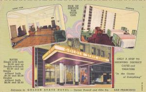 SAN FRANCISCO, California, 30-40s ; Golden State Hotel, Corner of Powell & Ellis
