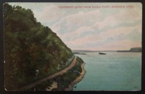 Mississippi River from Eagle Point  Dubuque Iowa A.C. Bosselman & Co 5871