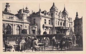 Monaco Monte Carlo Le Casino et la Terrasse du Cafe de Paris