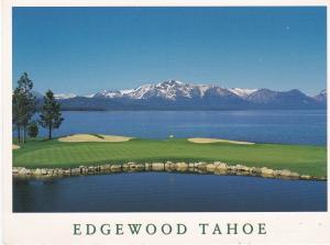 Post Card United States Nevada Lake Tahoe Edgewood Tahoe Golf