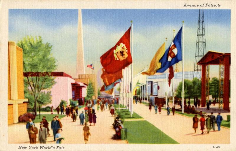 NY - New York World's Fair, 1939. Avenue of Patriots