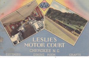 Leslie's Motor Court, Highway 107, Cherokee Indian Reservation, Great Smoky M...