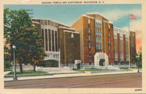 Auditorium Theater - Masonic Temple - Rochester, New York - pm 1947 - Linen