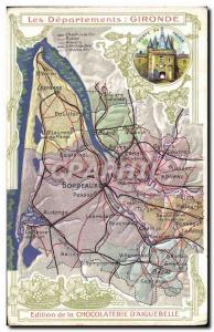 Old Postcard MAPS Chocolaterie d & # 39Aiguebelle Gironde Bordeaux