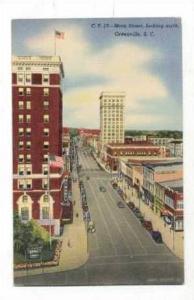 Main Street looking North, Greenville, SC, 30-40s