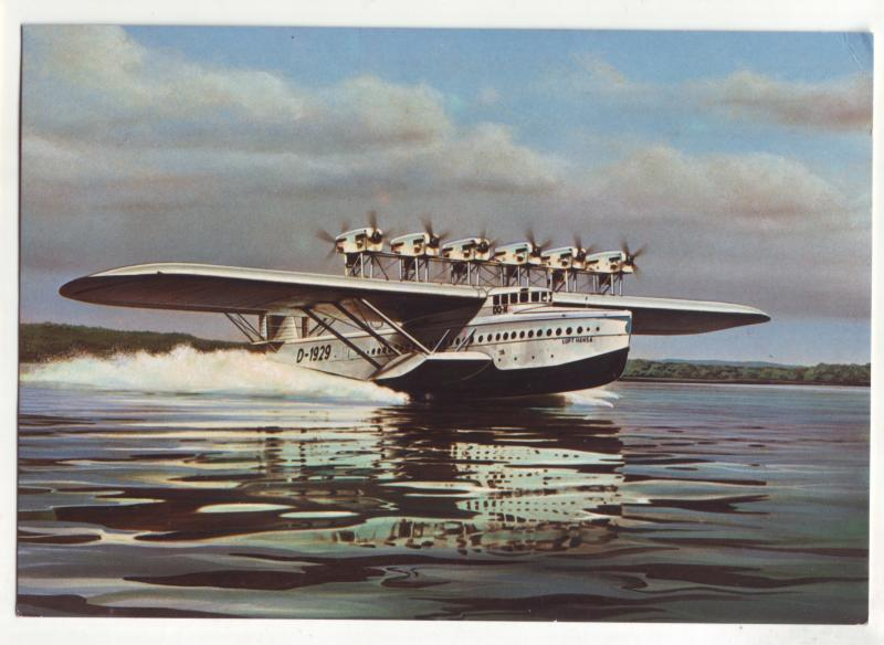 P724  continental approx (4 X 6) 1929 dornier-flugboot do X sea plane
