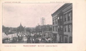 Benton Harbor Michigan~Sixth Street South~Peach Market~Grocery~Swamp Root~1901