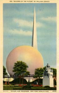 NY - New York World's Fair, 1939. Trylon & Perisphere