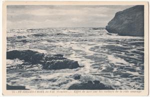 France, ST-GILLES-CROIX-de-VIE, Effet de mer sur les rochers, used Postcard