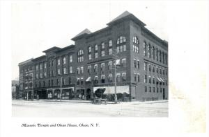 New  York Olean     Masonic Temple and Olean House