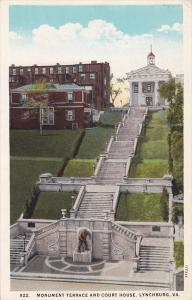 Monument Terrace and Court House,  Lynchburg,  Virginia,    00-10s