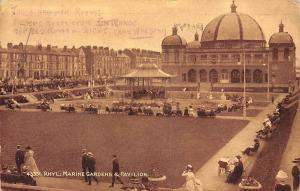 Wales Rhyl: Marine Gardens & Pavilion, Sepiatone Series
