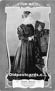 Mabel Ballin As Jane in Jane Eyre Theater Actress Unused