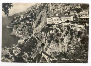RP: Aerial View of City & Harbor / Albergo Cappuccini,Amalfi,Italy 1920-30s