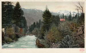 CALIFORNIA, 1901-07; Sacramento River, Walking Bridge