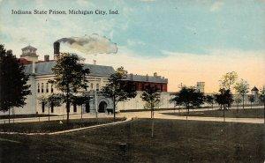 LP91 Michigan City  Indiana Postcard Prison Penitentiary