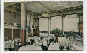 Ye Baltimore Inn Interior Quincy Street Chicago Illinois 1916 postcard