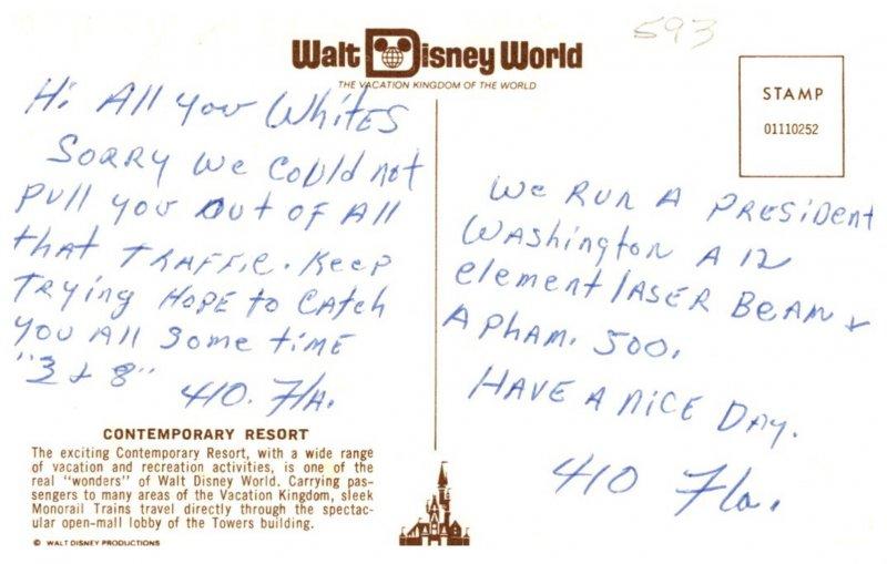 Florida  Walt Disney World ,  Contemporary Resort