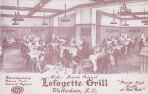 WALTERBORO, South Carolina; Arthur Bauer´s Original Lafayette Grill, Interio...