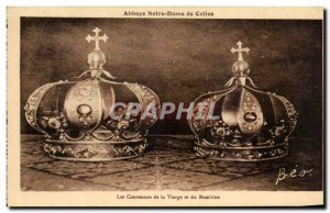Postcard Abbey Notre Dame de Celles The Crowns of the Virgin and the Bambino