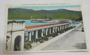 Vintage Postcard East End of Pergola and Steamboat Landing Lake George NY