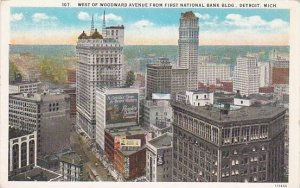 Michigan Detroit West Of Woodward Avenue From First National Bank Building