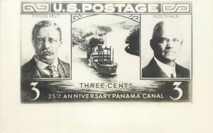 Presidents Political topic enlarged stamp pres. Roosevelt Goethals Panama Canal