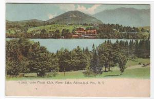 Lake Placid Club Mirror Lake Adirondack Mountains New York 1909 postcard