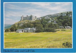 Post Card Wales Gwynedd Harlech Castle and Golf Club Judges C10615