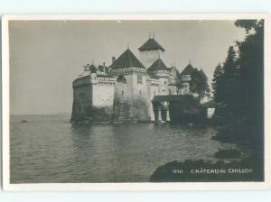 old rppc CHILLON CASTLE Veytaux - Vaud Switzerland i2098