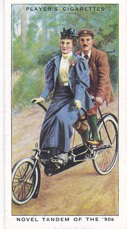 Cigarette Cards Players CYCLING No 24 Novel Tandem of the '90s