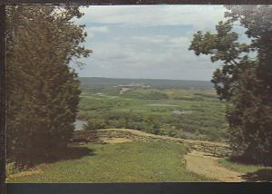 Overlooking WI and MS Rivers Scene Postcard BIN