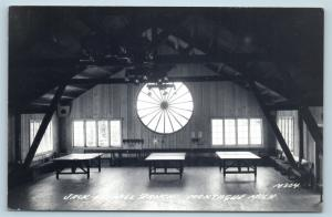 Postcard MI Montague Jack & Jill Ranch Interior Ping Pong RPPC Real Photo G26