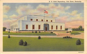 Money Related US Gold Depository Fot Knox, Kentucky, USA 1942 Missing Stamp