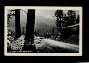 CA Sonora Pass Highway Hwy California Postcard Calif