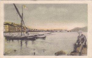 BRINDISI , Italy , PU-1910 ; Harbor Scene ; Hazel Olive Oil adv postcard