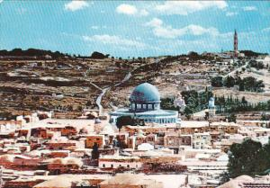 View Of Jerusalem and Mount Olive Jordan 1961