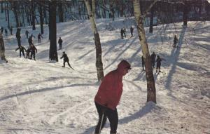 Skiing, Mount Royal, Montreal, Quebec, Canada, PU-1962