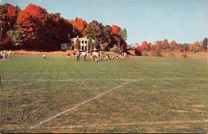 Sheffield Massachusetts Berkshire School Football Vintage Postcard K82877