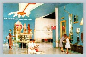 Anaheim CA, Monsanto Chemical Hall, Disneyland, Chrome California Postcard