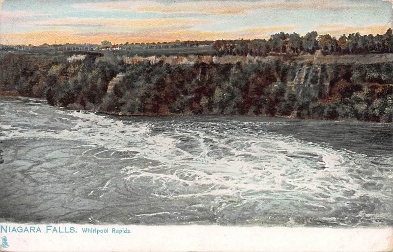 Whirlpool Rapids, Niagara Falls, Ontario, Canada, Early Postcard, Unused